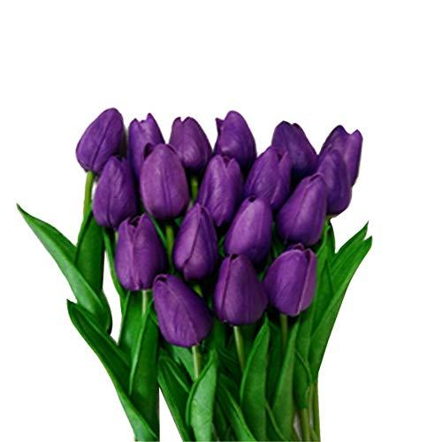 Weanty 10 piezas flores artificiales tulipán látex