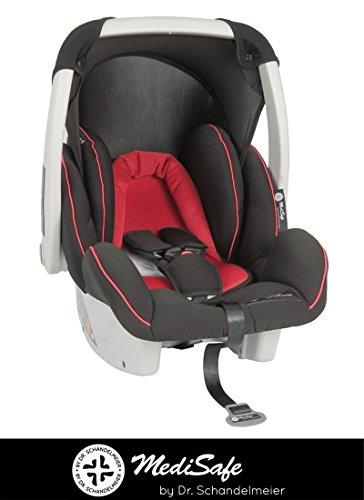Babyschale Cocomoon von MEDISAFE, verschiedene Designs, Gruppe 0+, 0-13 kg, Farbe:Rot-Schwarz