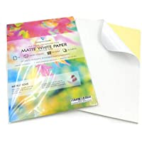 100 Sheets of Quality A4 White MATTE Self Adhesive/Sticky Back Label Printing Paper Sheet - ukpricecomparsion.eu