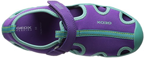 Geox J WADER A Mädchen Sneakers Violett (PURPLE/TURQUOISEC8123)