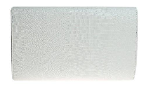 Girly HandBags Stampa Animale Piatto Busta Da Sera Pochette Delle Signore Blu Marrone Nero Metallo White