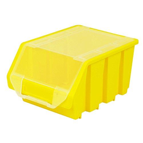 Stapelbox Stapelkiste Sortierbox Ergobox mit Deckel Gr. 3 gelb Lager