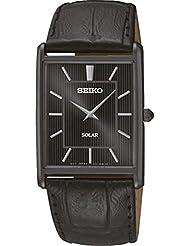 Seiko Herren-Armbanduhr Analog Quarz Leder SUP881P1