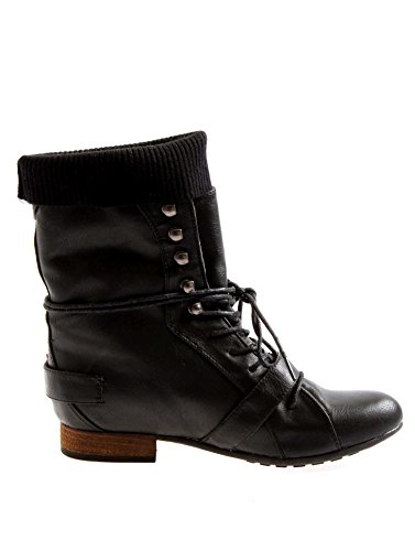 Bullboxer Stivaletti scarpe donna schnuerboot Stivaletti donna 5391 Nero