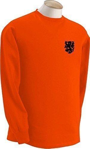 Dutch Holanda Países bajos Equipo De Fútbol Retro De Manga Larga Camiseta - Todas Las Tallas - algodón, Naranja, 100% algodón, Hombre, Medium
