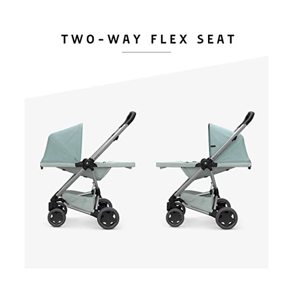 Quinny Zapp Flex Plus Urban Pushchair, Flexible and Compact, Two-Way Reclining Seat, 6 Months to 3.5 Years, Frost on Grey Quinny Can be used from birth when combined with quinny from-birth cocoon or a maxi-cosi baby car seat (sold separately) This flexible pushchair features a two-way seat that fully reclines in both directions Four large wheels of quinny zapp flex plus offer a highly manoeuvrable, smooth ride 2