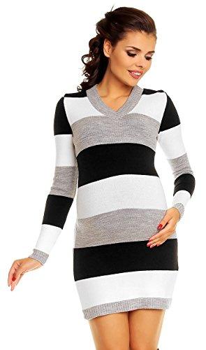 Zeta ville - vestito maglia pullover prémaman blocchi di colore - donna - 405c (nero, one size it 40/42/44)