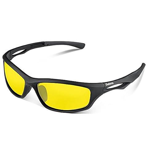 Duduma Polarisierter Sport Herren Sonnenbrille für Ski Fahren Golf Laufen Radsport Tr90 Superleichtes Rahmen Design für Herren und Damen (Schwarze Matt Rahmen mit Gelbe Linse) - Sport Outlet 24