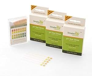 (300 Stück) SimplexHealth pH Teststreifen Urin und Speichel