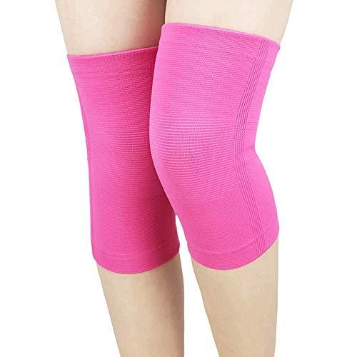 RED SHORE Knie Ärmel Unterstützung Kompression Knieorthese Anti Slip Schmerzlinderung für Arthritis Patella Osteo & Running Gewichtheben Joint Injury Recovery 2pc (XXL,Pink) (Arthritis Knieorthese Für Xxl)
