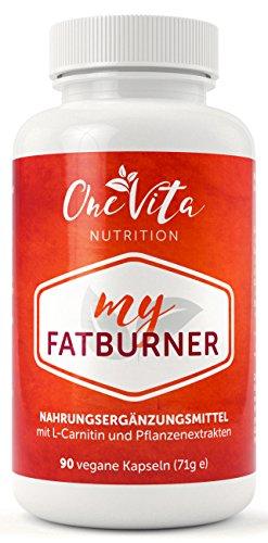 My Fatburner 90 Kapseln | L-Carnitin Diät-Kapseln | Appetitzügler mit Guarana, Grüner Kaffee, Grüner Tee | Schnell abnehmen mit Appetithemmer Diät Pillen | Natürlicher Fettverbrenner