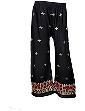 Indistar Regular Fit Women Black Trousers
