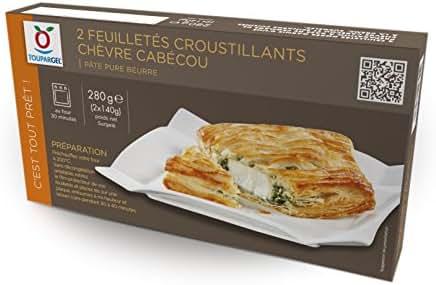 Toupargel 2 Feuilletés Croustillants Chèvre Cabécou 280 g