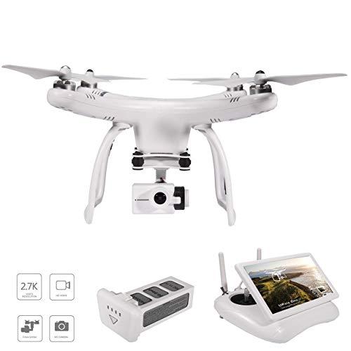 UPair One Drohne mit 120° Weitwinkel 2.7K HD Kamera, 5.8G RC Quadrocopter FPV live Übertragung, GPS Auto Return Function, Headless Modus, 2.7K Videokamera Drohne für Anfänger