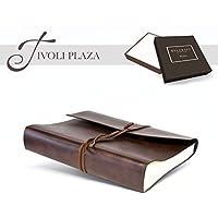 Tivoli Plaza Album Fotografico Matrimoniale in Pelle Riciclata, Realizzato a mano da Artigiani Toscani (30x30 cm) Marrone