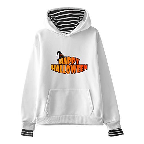 AQIN Halloween Unisex Sweatshirt Kapuzenpullover Kapuzensweater Hoodie Pullover Einfarbig mit Kängurutasche Kapuze Line Baumwolle Sweater (Asiatische Paare Kostüm)