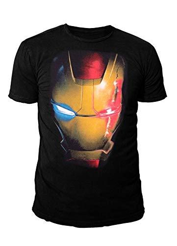 Marvel Comics - Iron Man Herren T-Shirt - Mask (Schwarz) (S-XL) (M)