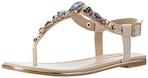 Buffalo Shoes Damen 14S07-39 Imi Suede Zehentrenner, Mehrfarbig (Nude 01), 40 EU