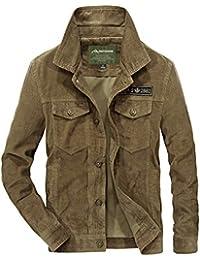 ae5056f55a772 ROBO Blouson Velours Homme Militaire Veste Polaire Slim Fit Trucker Jacket  Mode