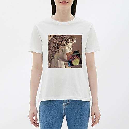 WDFSER Harajuku Gothic T Shirt Frauen Casual 100% Baumwolle Frauen Kleidung Harajuku Plus Größe Frauen 90 s Ästhetischen Kleidung -