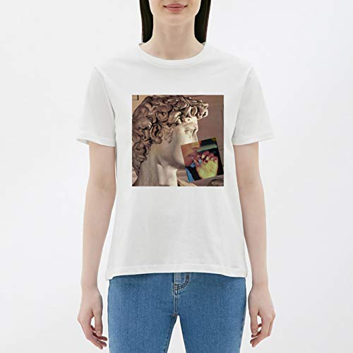WDFSER Harajuku Gothic T Shirt Frauen Casual 100% Baumwolle Frauen Kleidung Harajuku Plus Größe Frauen 90 s Ästhetischen Kleidung - Baumwolle Plus Größe Kleidung