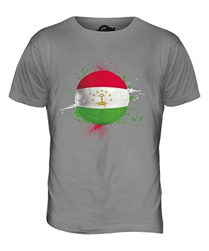 CandyMix Tagikistan Calcio T-Shirt da Uomo Maglietta Grigio chiaro