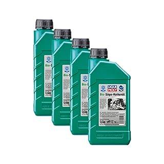 4x LIQUI MOLY 1280 Bio Säge-Kettenöl Pflanzliche Basis KWF geprüft 1L
