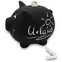 Preisvergleich für Surplex Keramik-Münze Geld Sparen Box beschreibbar Sparschwein mit Kreide wiederverschließbar für die Kennzeichnung der Tafel, Tafel