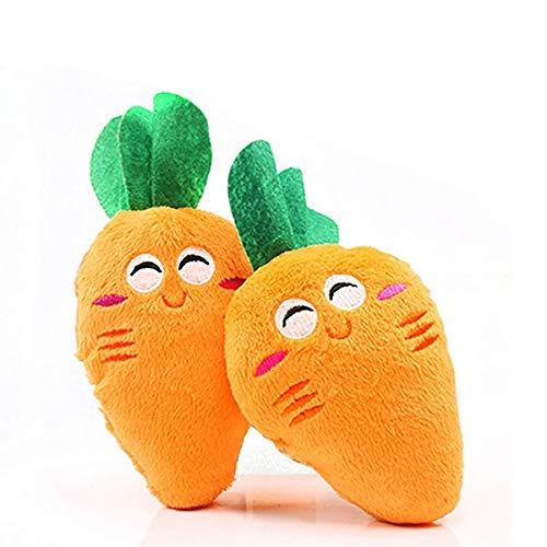 GUODOGUUP Spielzeug Für Haustiere Hund Quietschen Spielzeug Obst Gemüse Trommel Knochen Sounding Pet Dog Chew Spielzeug Für Kleine Mittelgroße Hunde Heimtierbedarf EIN Stück Karotte -