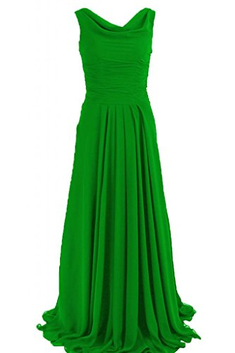 Sunvary maniche lunghe guaina abito da sera elegante Chiffon, con scritta Mother of the Bride Green