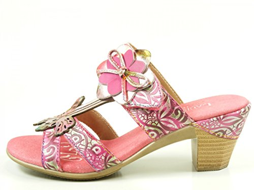 Laura Vita Damen Bettino 01 Pantoletten Pink
