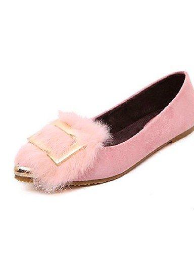 ZQ Scarpe Donna - Mocassini - Casual - Comoda - Piatto - Finta pelle - Nero / Rosa / Grigio , pink-us6 / eu36 / uk4 / cn36 , pink-us6 / eu36 / uk4 / cn36 gray-us8 / eu39 / uk6 / cn39