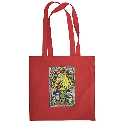 Texlab–Window Link–sacchetto di stoffa Rot