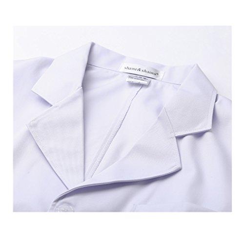 Langärmelige kurze abschnitt kittel ärzte krankenschwestern bekleidung arbeitskleidung arbeit (männer, XXXL) - 2