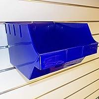 CompleteShopfittings NEW LARGE HEAVY DUTY BIG STORAGE BOX SLATBOX SHELFBOX SLATWALL DISPLAY (Blue, 10)