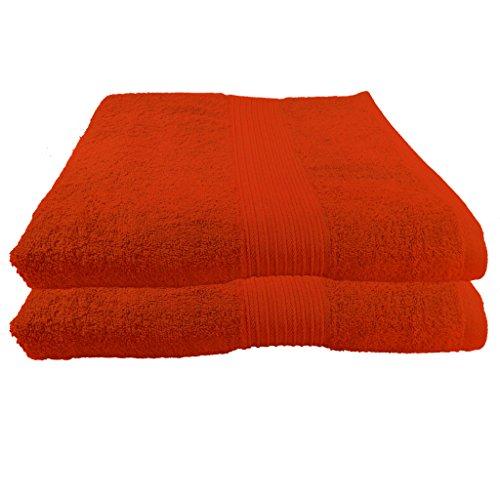 Julie Julsen 2er Pack Saunatücher 28 Farben erhältlich Reine Baumwolle Qualität 500 GSM Strandtuch Terrakotta 80 x 200 cm B-Ware