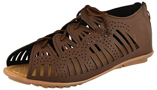 SHOE SPLASH Brown Fashion Sandals Shoes Footwear For Women's And Girls - 4 UK
