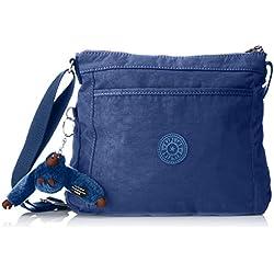 Kipling - Moyelle, Bolsos bandolera Mujer, Blau (Jazzy Blue), 7.5x26x21 cm (B x H T)