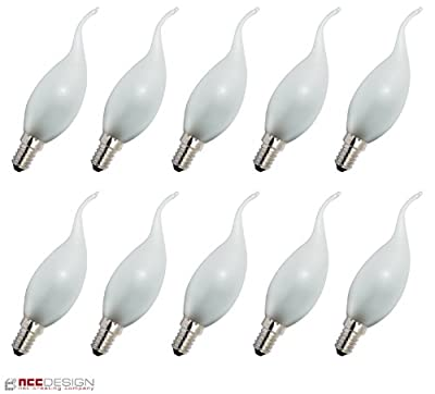 10 x Glühlampe Glühbirne Kerze Windstoß 15W 15 Watt E14 MATT Glühbirnen Glühlampen Glühbirne Glühlampe Windstoßkerze