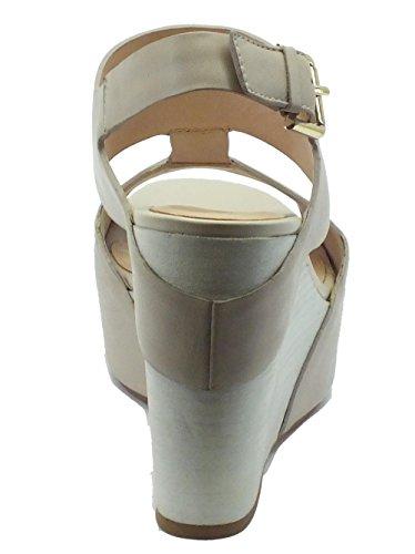 Sandali con zeppa alta CafèNoir per donna in pelle avorio Avorio