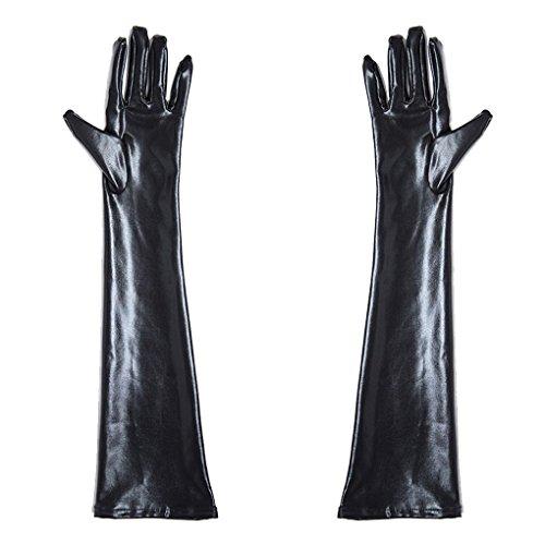 Fighting 1 Paar Leder Ellenbogen Lange Handschuhe Frauen Sexy Kostüme Latex Wet Look Sex Dessous Handschuhe Fetisch Bondage Gauntlet