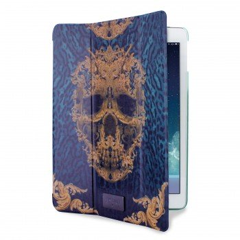 Cover Schutzhülle Just Cavalli Puro Apple iPad Air 1 Green Skull