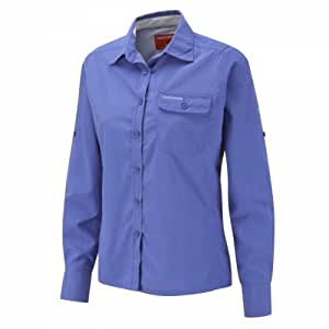 Craghoppers NosiLife Darla II Long Sleeved Shirt Blue Bleu - blue violet Size:36