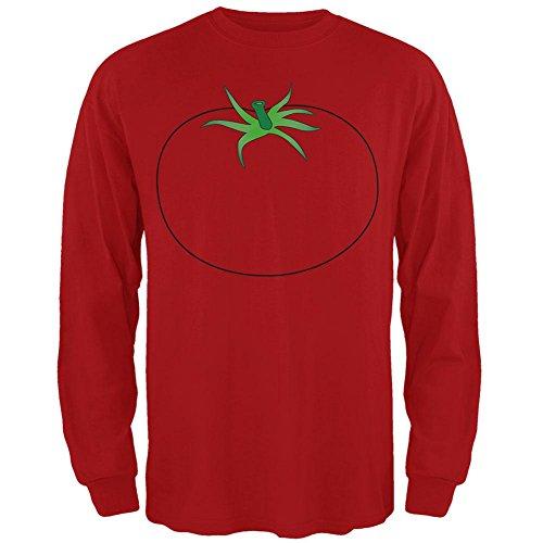 Halloween Obst Gemüse Tomate Kostüm Herren Long Sleeve -