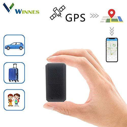 Winnes GPS Tracker Localizzatore GPS Auto Tracking in Tempo Reale Tracciatore di Posizione,Geo-Fence Alarm App Gratuita Antifurto per Auto Moto Camion con Forte Magnete (TK901-Mini Size)