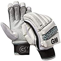 Gunn & Moore 303 - Guantes de bateo, 303, Unisex Adulto, Color Blanco/Plateado/Negro, tamaño Small Adult LH
