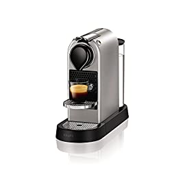 Nespresso by KRUPS XN760B40 Nespresso Citiz and Milk Coffee Machine, 1710 W – Silver + Nespresso Capsule Holder