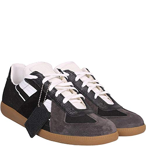 Margiela Maison Replik Wildleder und Leder Sneakers Multi UK 9 Black