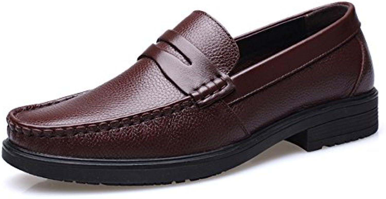 Ruanyi Männer Loafers Schuhe  Slip on Flache Weiche Sohle gefüttert Echte Rindsleder Kausal Loafer für MännerRuanyi Männer Loafers gefüttert Rindsleder