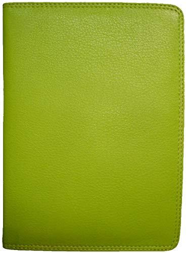 SOS großes Leder Ausweisetui - Limone mit RFID-Schutz - DIN A6 Etui für Ihre Ausweise Behindertenausweis grün Kiwi